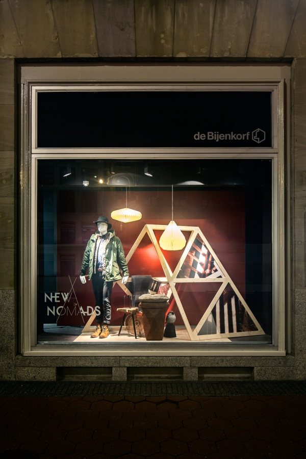 Shopwindows for the Bijenkorf, Amsterdam
